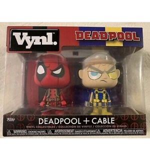 Deadpool and Cable Vynl brand figurines